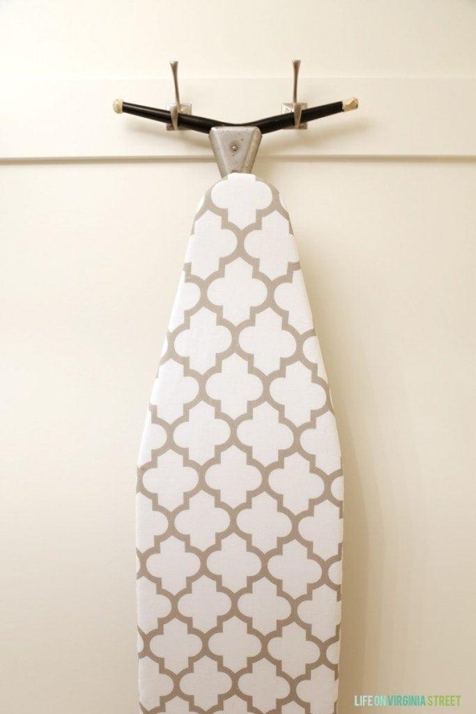 DIY Ironing Board Holder - Life On Virginia Street