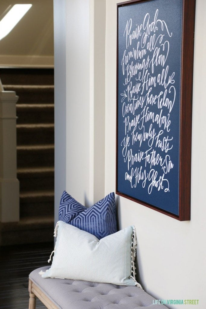 Doxology Canvas in Entryway - Life On Virginia Street