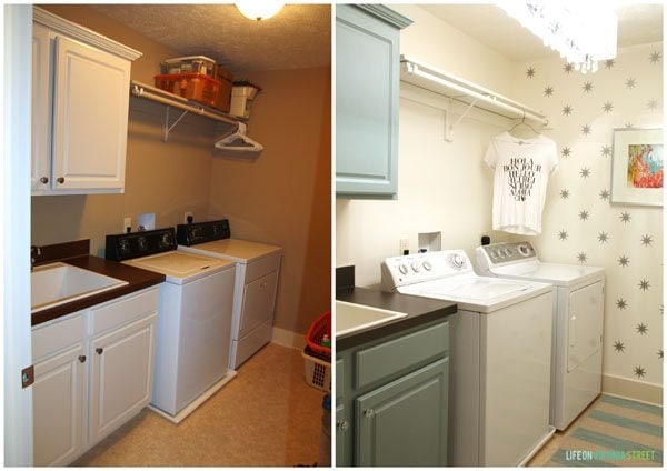 Laundry Room Before and After - Life On Virginia Street