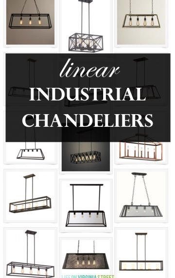 Linear Industrial Chandeliers