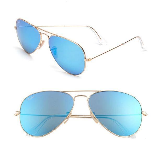 Mirrored Blue Aviators