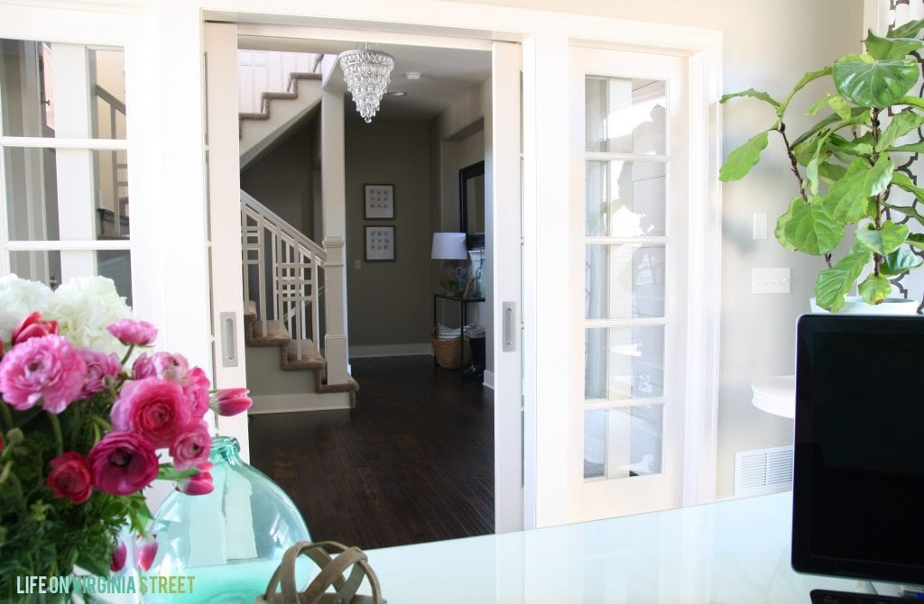 Office French Doors and Spring Home Tour via Life On Virginia Street