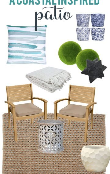 A Coastal Inspired Patio Design Board