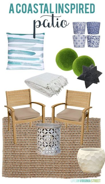 A Costal Inspired Patio Design Sheet