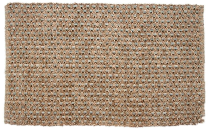 Blue and Jute Rug