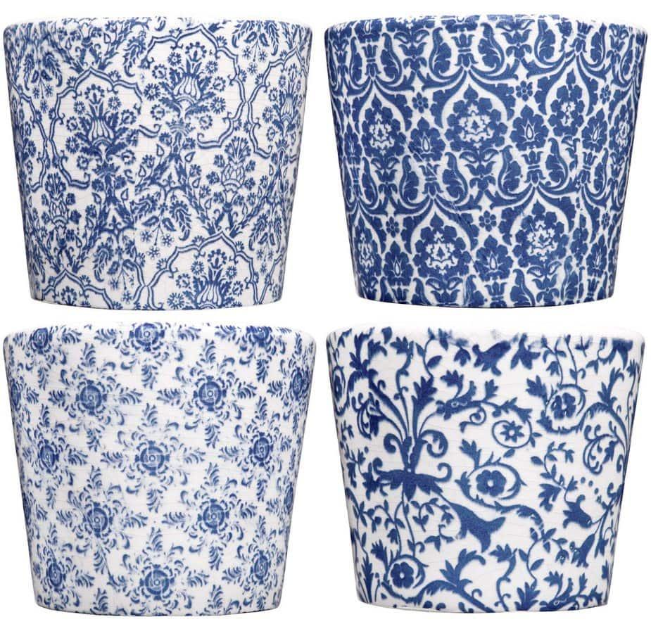 Blue and White Mini Pots