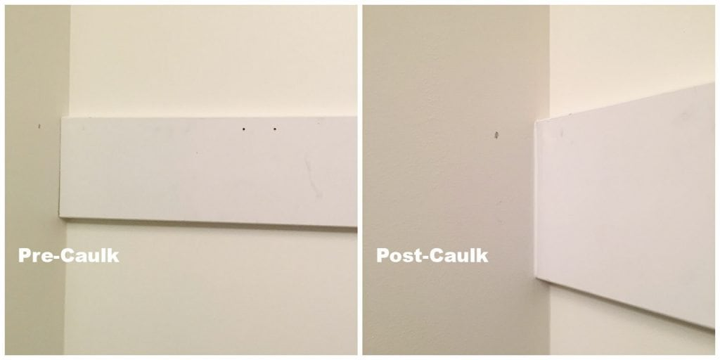 Caulking Before & After