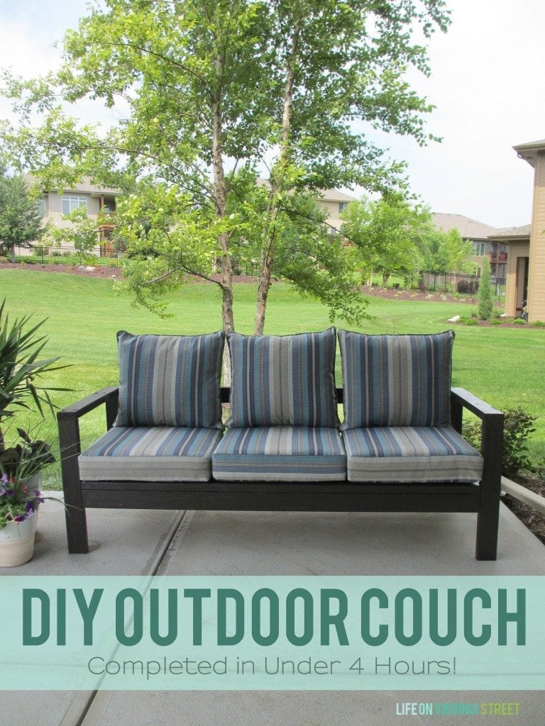 Homemade outdoor furniture ideas - Courtyard Refresh Diy Housewives Outdoors