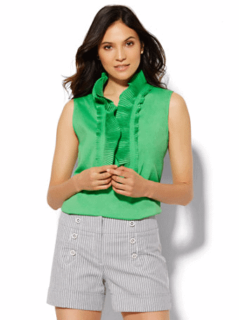 Green Empire Blouse