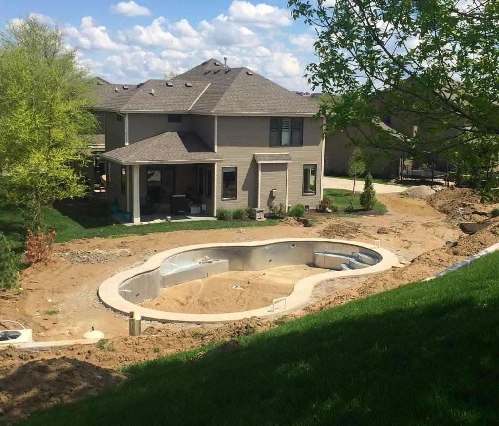 Backyard Pool Progress