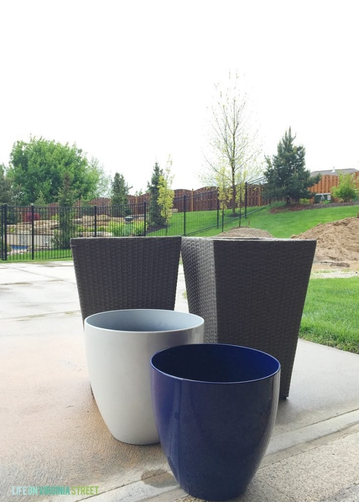 Outdoor Planters for Potted Herb Garden from At Home