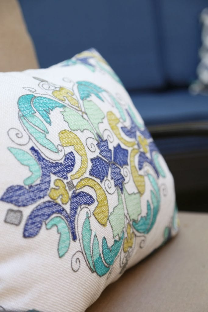 Outdoor Throw Pillow Details
