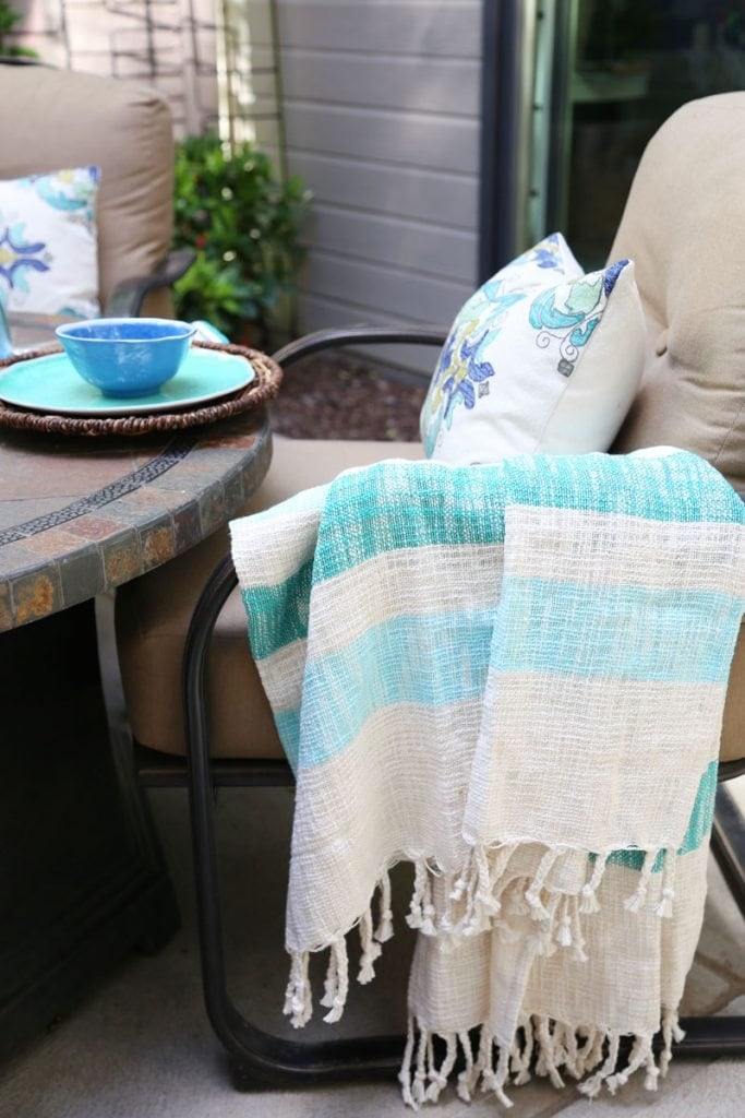 World Market Outdoor Blanket and Pillow