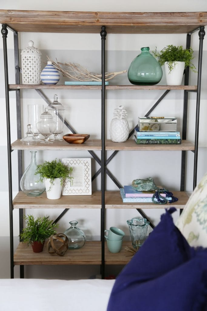 Crestview Collection La Salle Bookshelf in Guest Bedroom