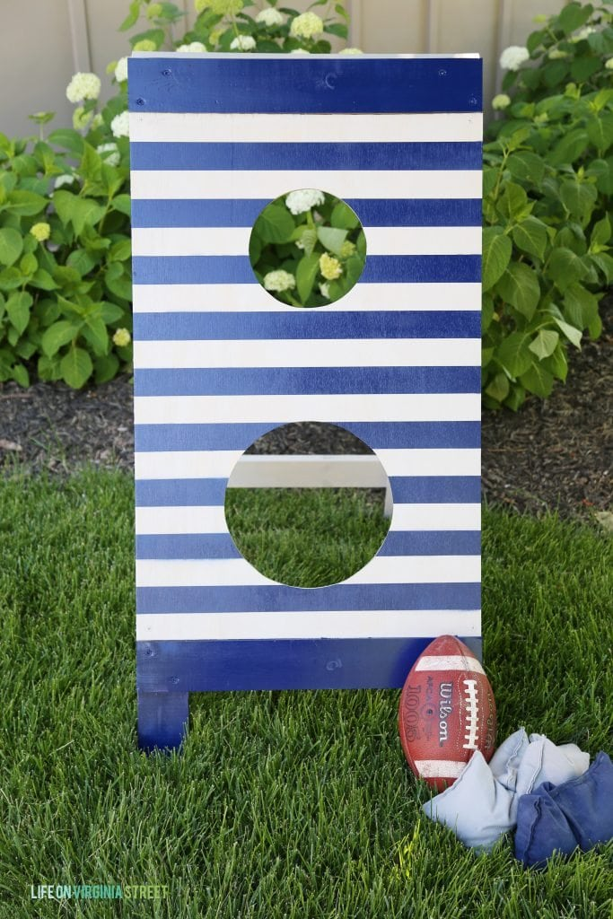 DIY Football Toss via Life On Virginia Street