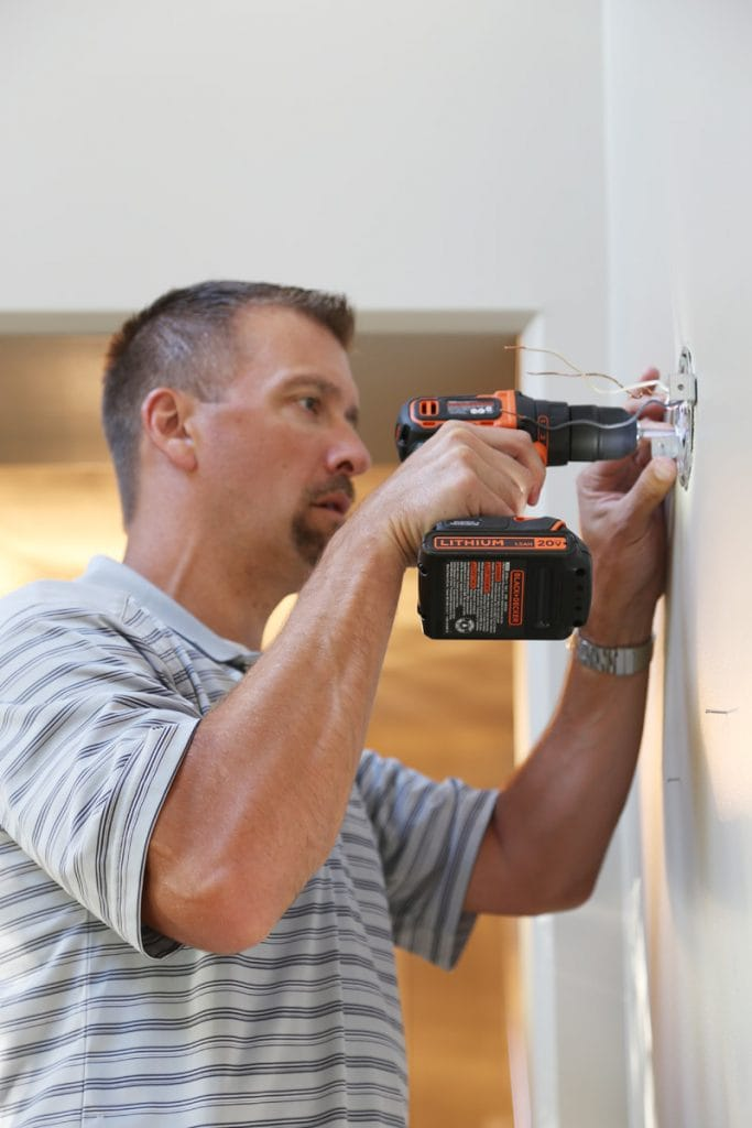 Installing Sconces with Black+Decker Drill