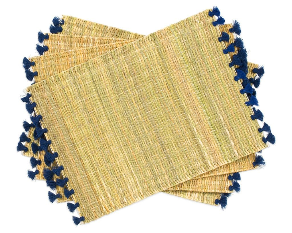 Navy Tassel Placemats