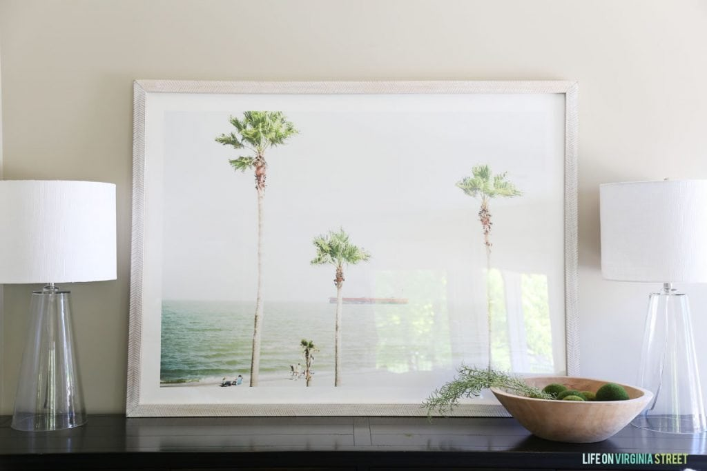 Palm Tree Art via Life On Virginia Street Summer Home Tour