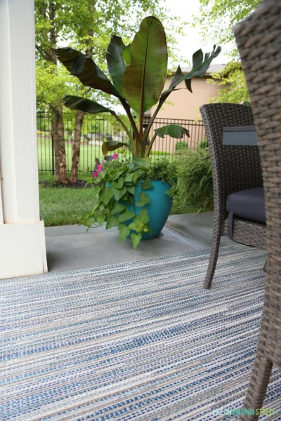 Our New Outdoor Rug and a Patio Makeover Sneak Peak