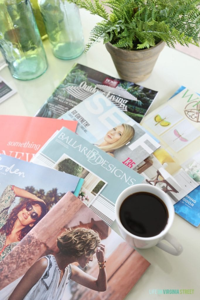 Saturday Morning Magazines and Coffee - my favorite part of the week!