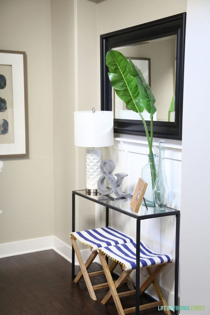 Summer Entryway Decor via Life On Virginia Street