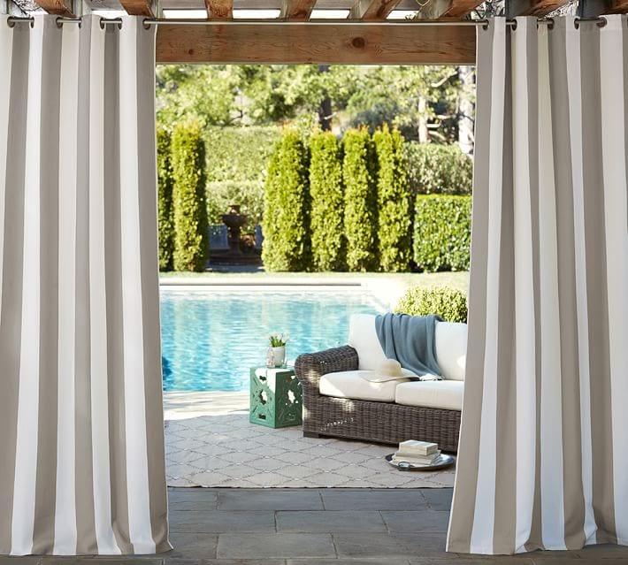 Sunbrella Outdoor Striped Drapes