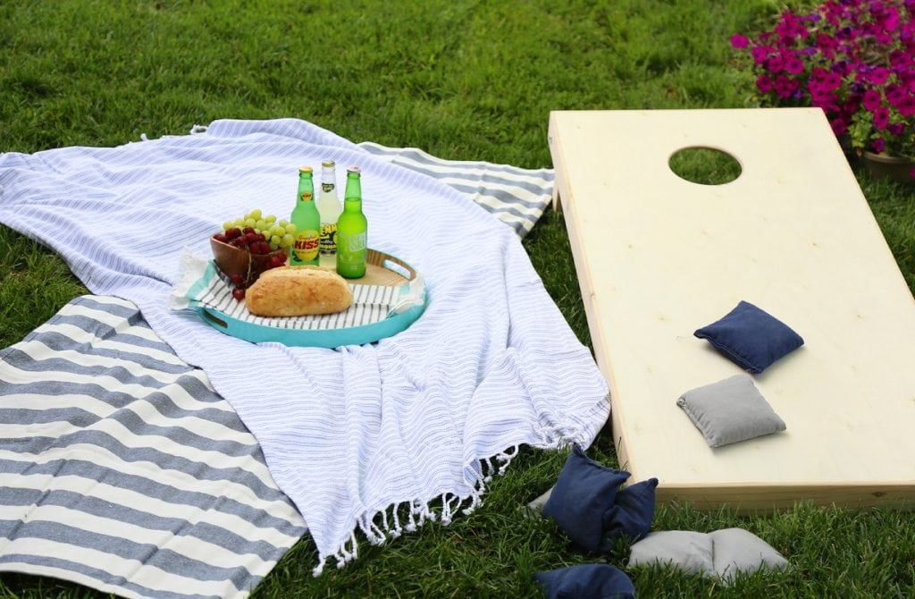 Wooden Cornhole Set and Picnic via Life On Virginia Street