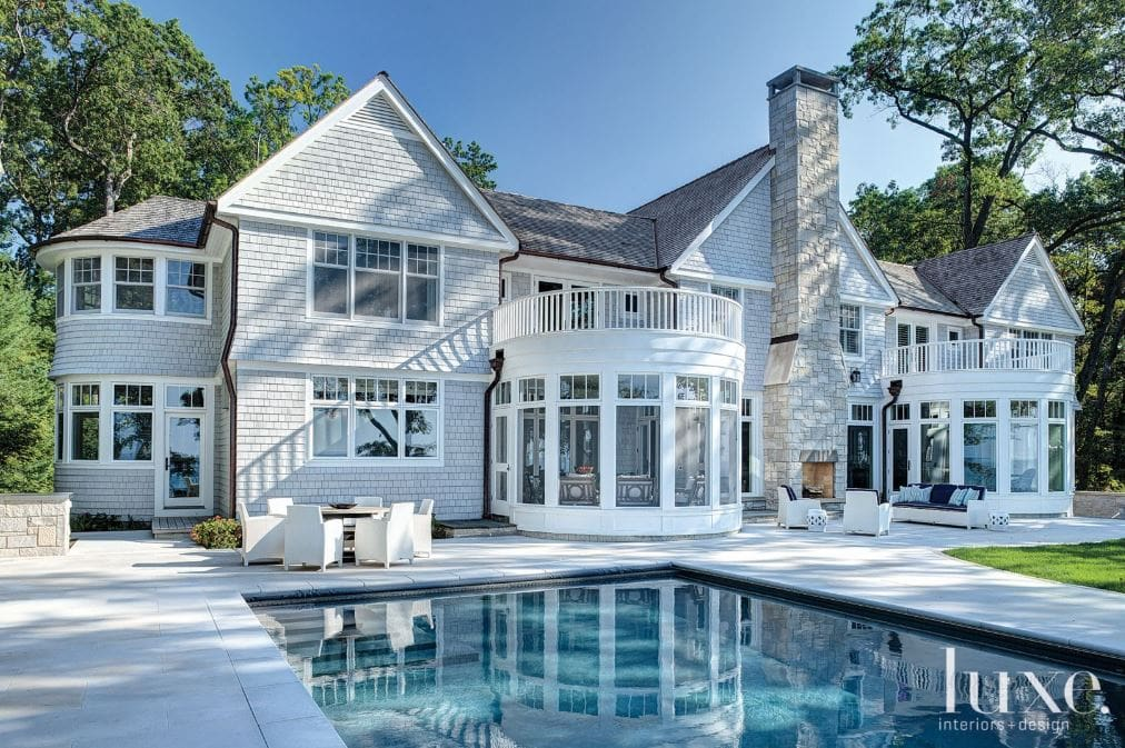 A Shingle-Style Harbor Country Retreat with Contemporary Interiors via Luxe