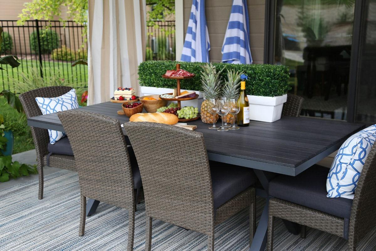 gathering patio dining set hayneedle