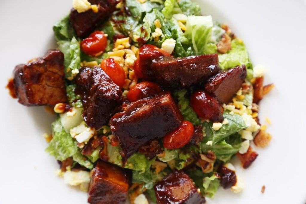 Burnt End Salad from The Raphael Hotel Room Service via Life On Virginia Street