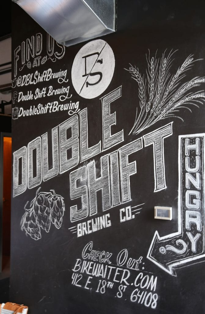Double Shift Brewing Co Chalk Art