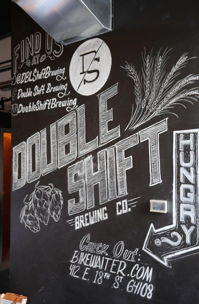 Double Shift Brewing Co Chalk Art