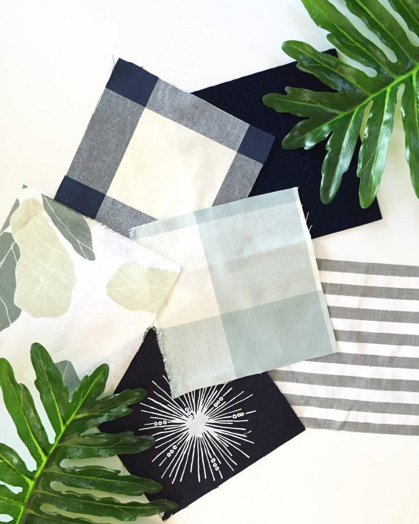 Blue and Green Studio McGee Fabric Samples via Life On Virginia Street