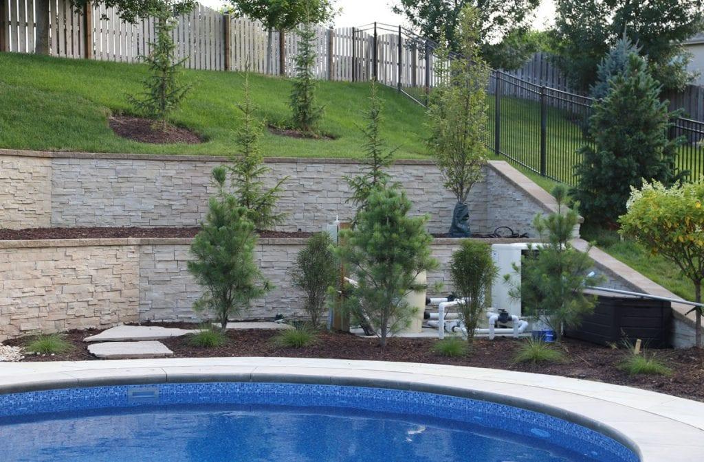 Landscaping Around Pool Equipment via Life On Virginia Street