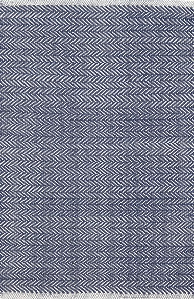 Navy Herringbone Rug
