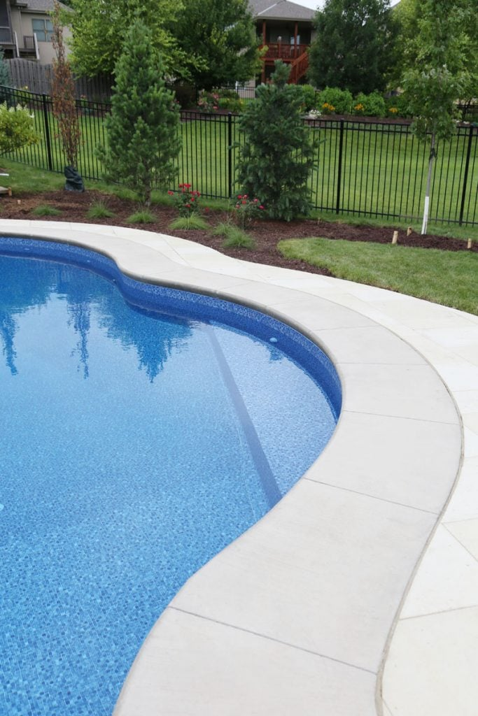 Pool Bench Seat and Landscaping via Life On Virginia Street