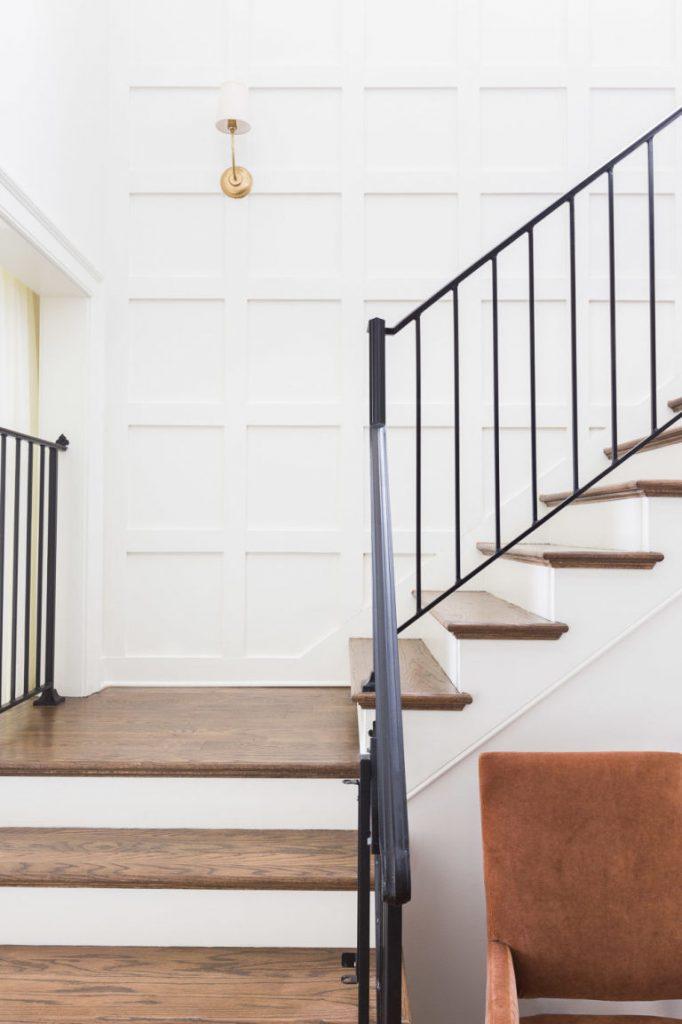 Staircase in Nashville Home - Designed by Jason Arnold - Photo by Alyssa Rosenheck