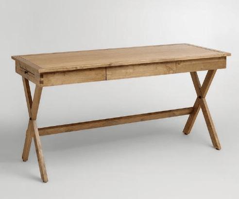 Wood Campaign Desk