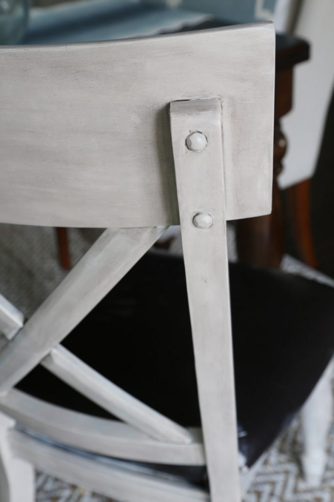 Up close picture of the chair after being stained.