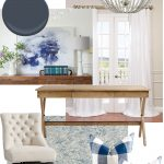 Navy Blue Office Design Board