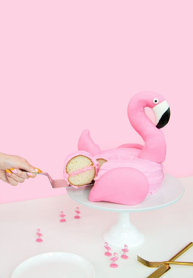 Pink Flamingo Pool Float Cake via Aww, Sam