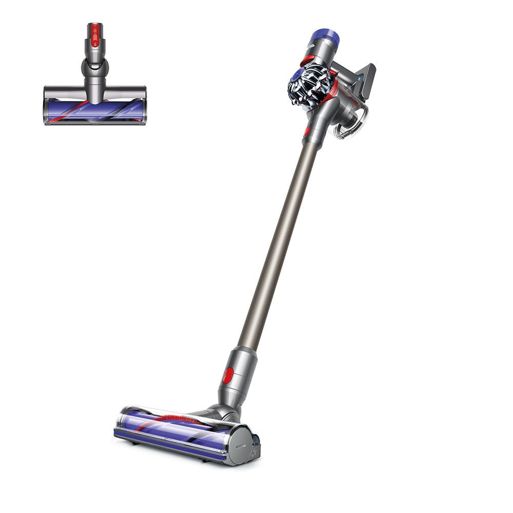 Certified refurbished Dyson cordless vacuum for cleaning up pet fur.