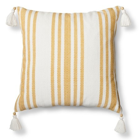 Tassel Striped Pillow