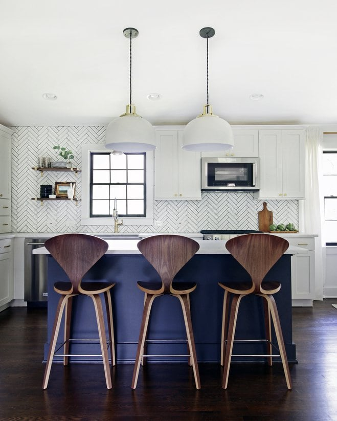 Before and After Kitchen Makeover via The Hunted Interior and Wayfair