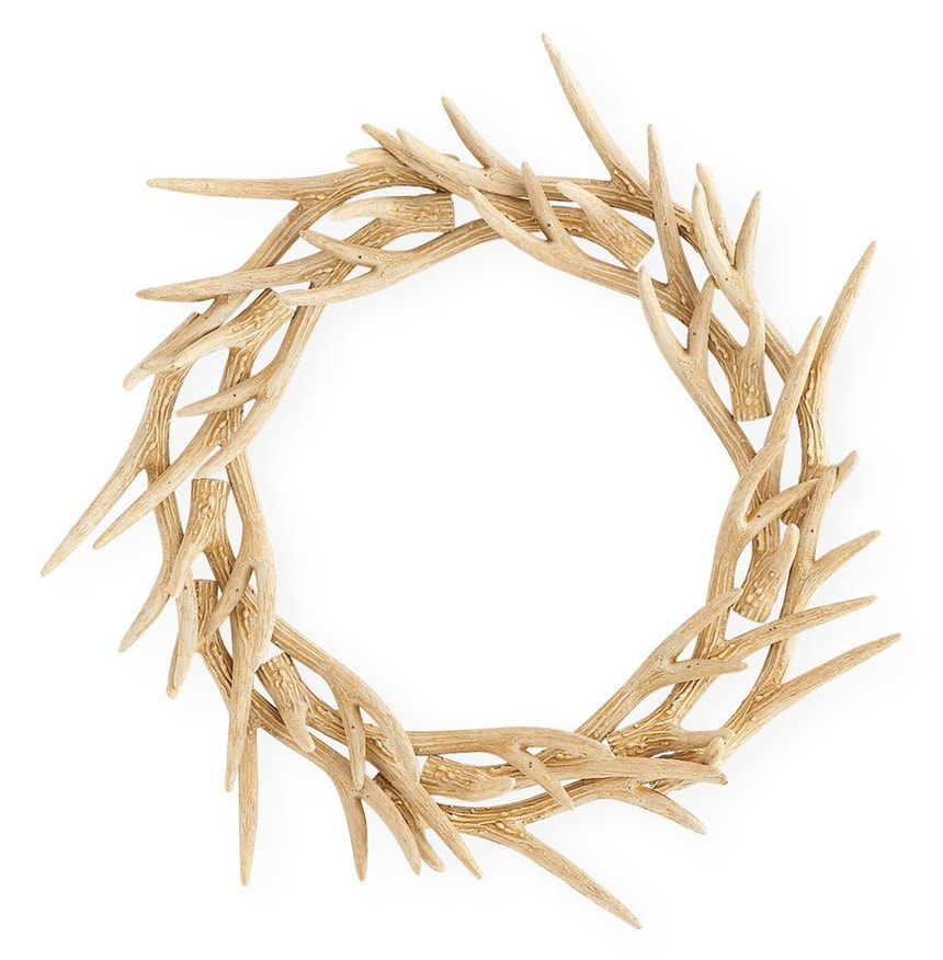 Resin Antler Wreath