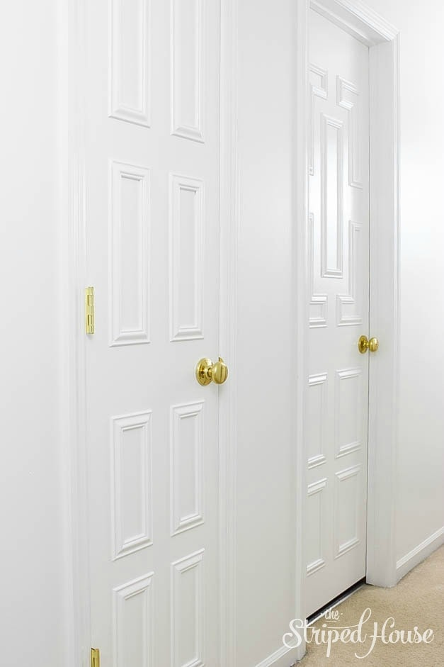 Interior Door Makeover via The Striped House