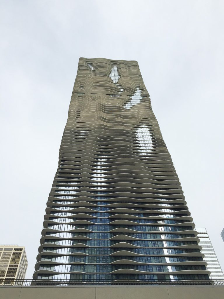 The Aqua tower Chicago.