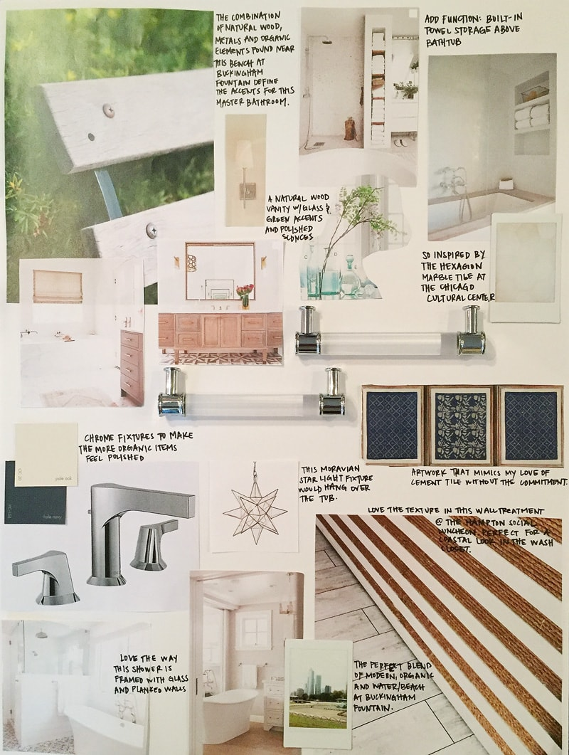 Inspired by chicago design life in virginia street for Bathroom design board