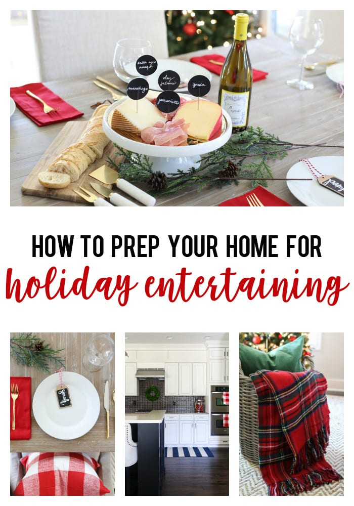 How prep your home for holiday entertaining poster.