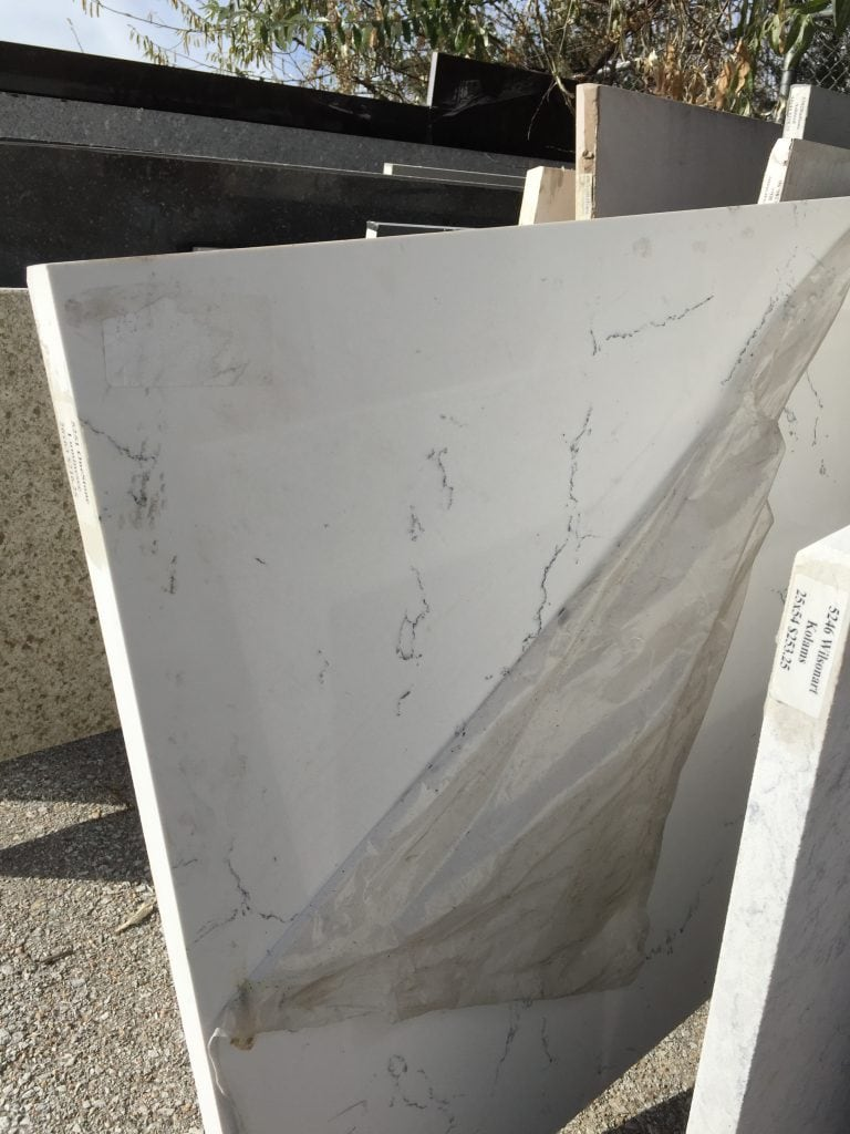 This quartz slab from the remnant lot called my name when I saw it! I had to have it for our powder bathroom.